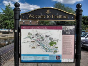 Welcome to Thetford sign