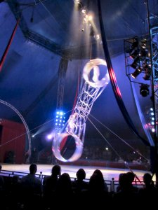 The final act was the Hegyi Brothers from Hungary, performing stunts on the rotating Wheel of Death...scary stuff...