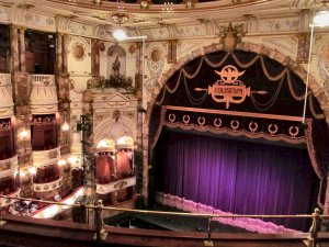 View of the theatre's stage, from the Balcony