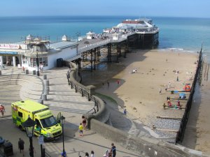 Cromer Pier from above...