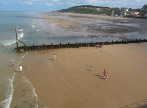 A view from Cromer Pier back towards Overstrand...