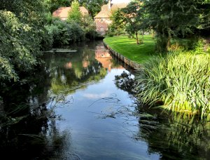 An idyllic vista of the River Itchen