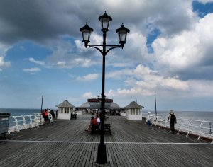Heading along the pier to the Pavilion Theatre, and the Lifeboat Museum beyond...