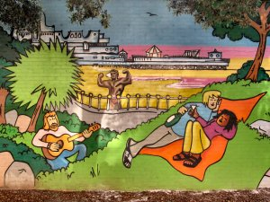 ...and was an amateur artist who helped design this mural, and hence its subsequent dedication to her...