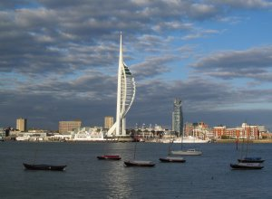 And looking across the water, from Gosport to Portsmouth's Spinnaker Tower