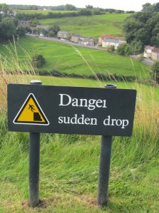 Danger Sudden Drop, at Richmond Castle...