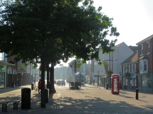 Looking eastwards, outside the Shopping Centre, in West Street, Fareham