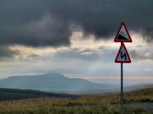 On the (literally) high road to Ribblehead from Hawes...