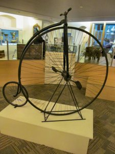 A Penny Farthing bicycle...