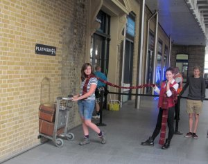 Platform 9¾, at King's Cross mainline station...