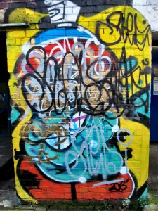 Abstract Pompey graffiti