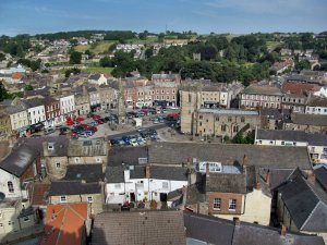 The Market Place, from the top of the Keep at Richmond Castle...