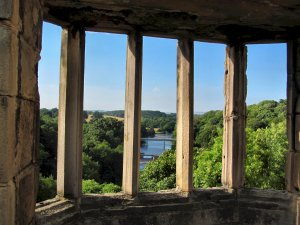 The River Tees, through a window at Barnard Castle...