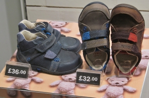 First shoes...in Clarks, Fareham Shopping Centre