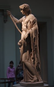 A female statue in the British Museum...
