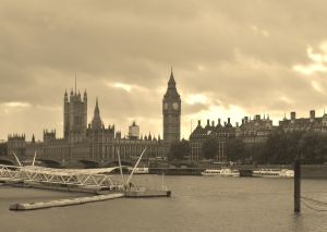 Houses of Parliament, done in sepia...