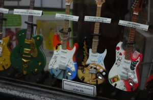 Miniature Replica Guitars, in Cards Galore, in High Holborn