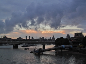 Another view downstream from Hungerford Bridge...