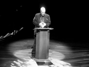 Alain de Botton, during his lecture on 'sprituality and consumerism'...