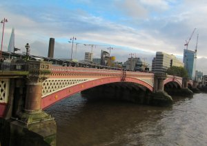 Blackfriars Bridge from north of the river...