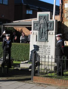 North Finchley War Memorial, soon after 11.00 this morning