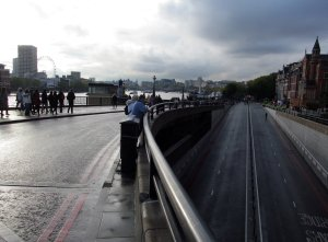 The Victoria Embankment as seen from near Blackfriars Bridge