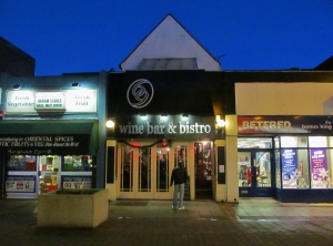 The 69 Wine Bar & Bistro (with live music today), in Palmerston Road, Southsea