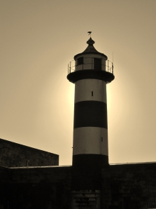The Castle Lighthouse, done in sepia...