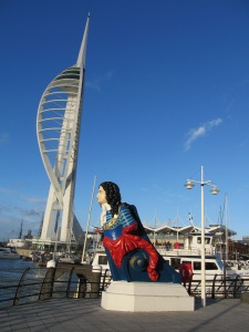 Figurehead and the Spinnaker Tower, Portsmouth Harbour