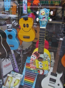 ...and some colourful guitars...