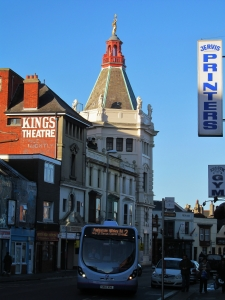 Albert Road, looking west, towards the Kings Theatre