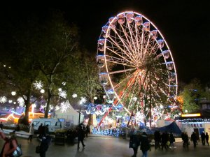 A festive Leicester Square, viewed from its south-western corner...