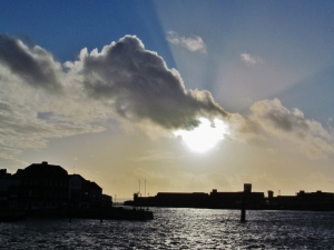 Sky above Spice Island, Portsmouth Harbour