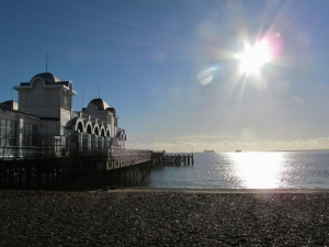 There's very obviously some lens flare here to the right of the pier, but I thought I'd post it nonetheless...
