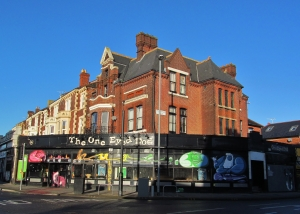 At the very western end of Albert Road, The One Eyed Dog, on the corner of Elm Grove and Victoria Road North
