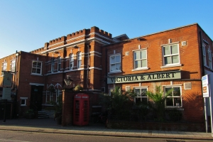 The Victoria & Albert, on the southern side of Albert Road, at its western end